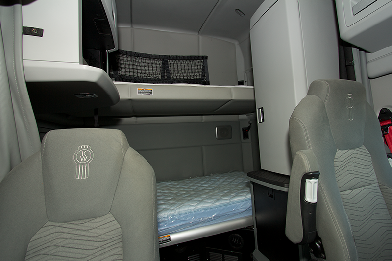 "Kenworth T680s include 72"" sleeper berths and refrigerators."